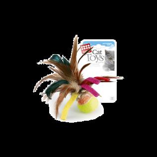 """GiGwi Cat Toys. ГиГви игрушка для кошек """"Мячик с перьями"""" Арт.75068"""
