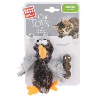 GIGWI Игрушка для кошек Утка с кошачьей мятой 13 см 75295