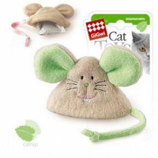 GIGWI Игрушка для кошек Мышка с кошачьей мятой 8 см АРТ 75041