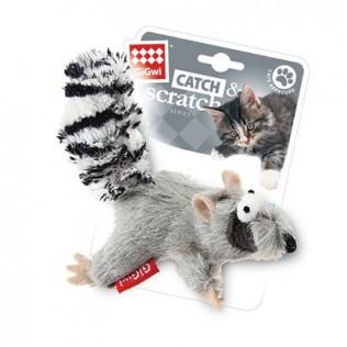 """GIGWI Игрушка для кошек """"Catch Skratch"""" Енот с кошачьей мятой 8 см АРТ 75384"""