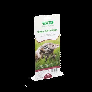 Titbit трава для кошек овес. Трава для проращивания в лотке.