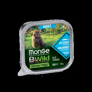 Monge B-Wild Anchovies with vegetables Adult. Монже для кошек би-вайлд анчоусы с овощами.