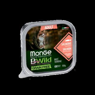 Monge B-Wild Salmon with vegetables Adult. Монже для кошек би-вайлд лосось с овощами.