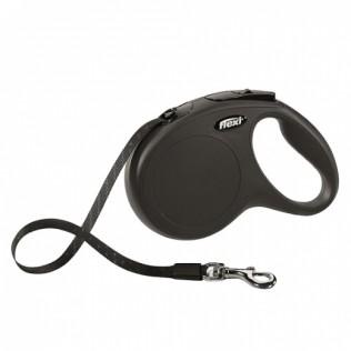 Рулетка для собак FLEXI New Classic M до 25 кг, 5 м лента черная