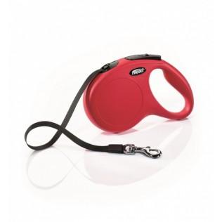 Рулетка-поводок для собак FLEXI New Classic M (до 25кг) лента 5м красная