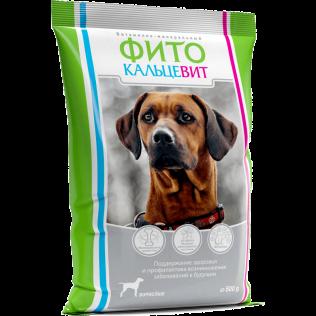 Витаминно-минеральный Фитокальцевит для взрослых собак 500гр