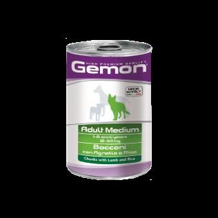 Gemon Medium Adult 1250gr. Гемон консервы для взрослых собак средних пород, с ягненком и рисом