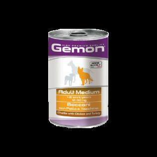 Gemon Medium Adult 1250gr. Гемон консервы для взрослых собак средних пород, с курицей и индейкой