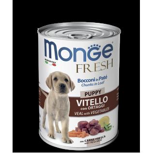 Monge Fresh Chunks Loaf Puppy. Монже для щенков с телятиной.