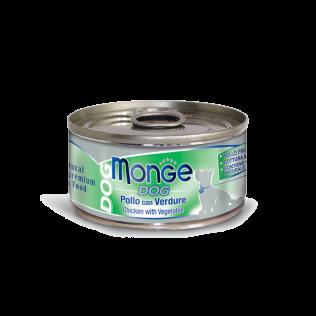 Monge Chicken with Vegetable Adult. Монже для взрослых собак с курицей и овощами.