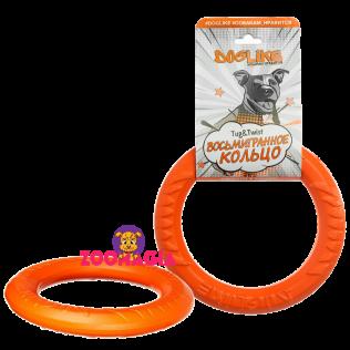 Снаряд Tug&Twist Кольцо 8-мигранное Doglike  миниатюрное (оранжевое)
