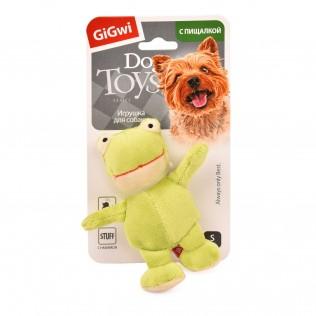 "GiGwi Dog Toys. ГиГви игрушка для собак ""Лягушка с пищалкой"" Арт.75022"