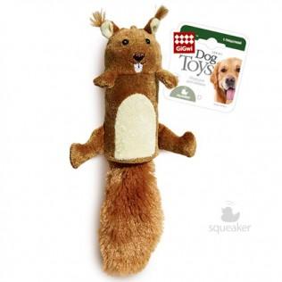 """GiGwi Dog Toys. ГиГви игрушка для собак """"Большая белка с пищалкой"""" Арт.75015"""
