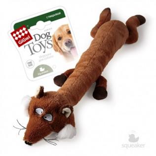 """GiGwi Dog Toys. ГиГви игрушка для собак """"Лиса с большой пищалкой"""" Арт.75231"""
