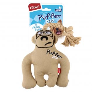 "GiGwi Dog Toys. ГиГви игрушка для собак ""Обезьяна с пищалкой"" Арт.75501"
