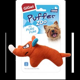 "GiGwi Dog Toys. ГиГви игрушка для собак ""Носорог с пищалкой"" Арт.75531"