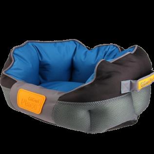 Лежак для животных  GiGwi Place, серо-голубой. Размер L- 75483. Домик для собак.  Размеры 750*600*300мм.