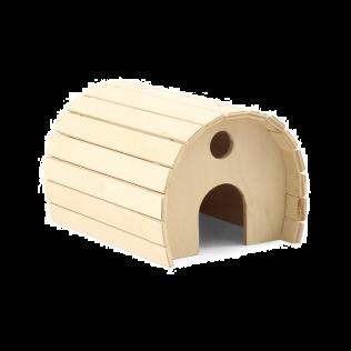 """""""Дарэлл"""" Домик для грызунов деревянный полукруглый 15*12*10см Арт.8550"""