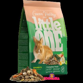 Green Valley from Little One Complete Feed Rabbits.  Полнорационный корм Литтл Ван  «Зеленая долина»  из разнотравья для кроликов. 750 гр.