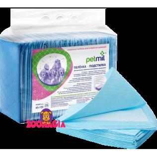 Гигиенические пеленки-подстилки для домашних животных Petmil . Размер пленок Петмил 60x120см.  Упаковка 25 шт.