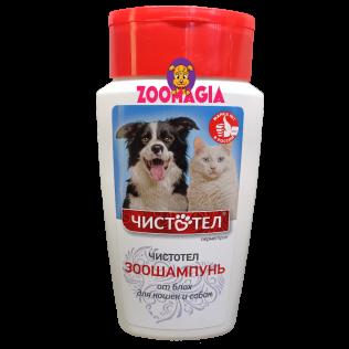 Антипаразитарный шампунь ЧИСТОТЕЛ. Зоошампунь от блох для собак и кошек. 180 мл.