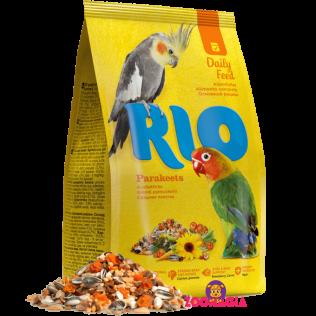 Rio Daily Feed Parakeets. Рио основной рацион для средних попугаев. 1000гр.