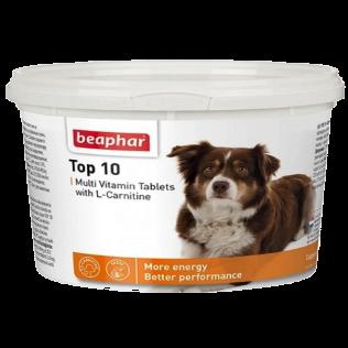 Beaphar Top 10 Multi Vitamin Tablets. Беафар Топ-10 мультивитаминная кормовая добавка для собак и щенков. 180 таблеток.