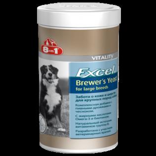 Excel Brewer's Yeast. Эксель Бреверсы, Пивные дрожжи для крупных собак.  80таблеток