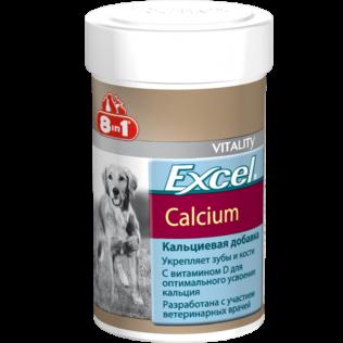 Excel Calcium. Эксель кальциевая добавка для щенков и взрослых собак. Кальций для собак. 155 таблеток.