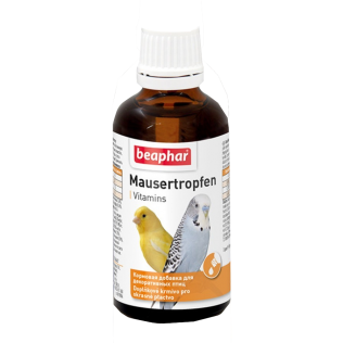 Beaphar Mausertropfen Vitamins. Кормовая добавка для птиц.