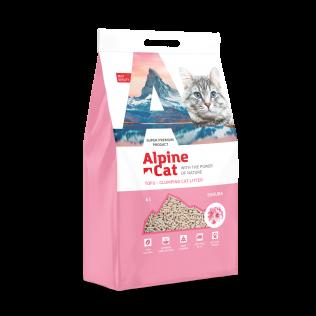 Наполнитель Alpine Cat с ароматом сакуры гранулированный органический комкующийся(тофу), 6л.