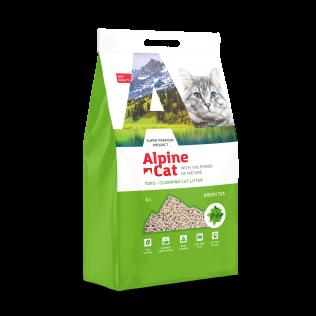 Наполнитель Alpine Cat с ароматом зеленого чая гранулированный органический комкующийся (тофу), 6л.