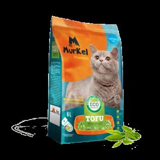 Murkel Tofu Original. Муркель Наполнитель для кошачьего туалета Тофу Нейтральный на растительной основе, 6 л