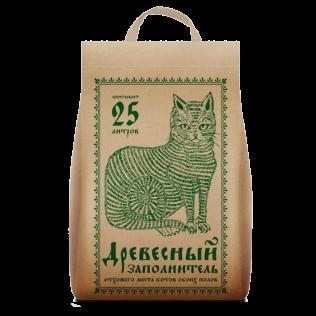 Наполнитель  для кошачьего туалета No Name   Древесный.   Упаковка:  крафт-пакет 25л.